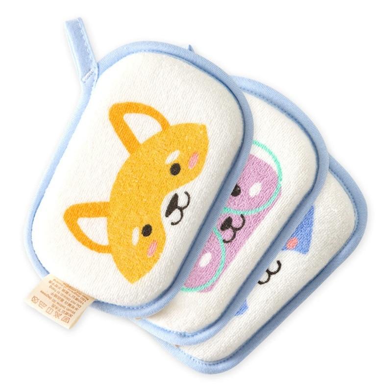 1pc Cute Cartoon Baby Bath Brush Cotton Rubbing Body Wash Child Brush Infant Body Care Super Soft