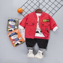 Spring Autumn Children Casual Clothes Baby Boys Girls Cartoon Jacket T Shirt Pants 3Pcs/sets Kid Infant Outfit Toddler Tracksuit kid clothes sets children winter autumn tracksuit thick jacket hoodie pants for boys girls warm suit set in stock