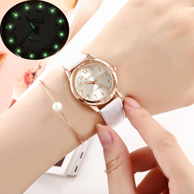 2020 Fashion Ladies Watches Top Luxury Brand Quartz Watches Ladies Casual Belt Sports Watches Ladies Watches Luminous Watches