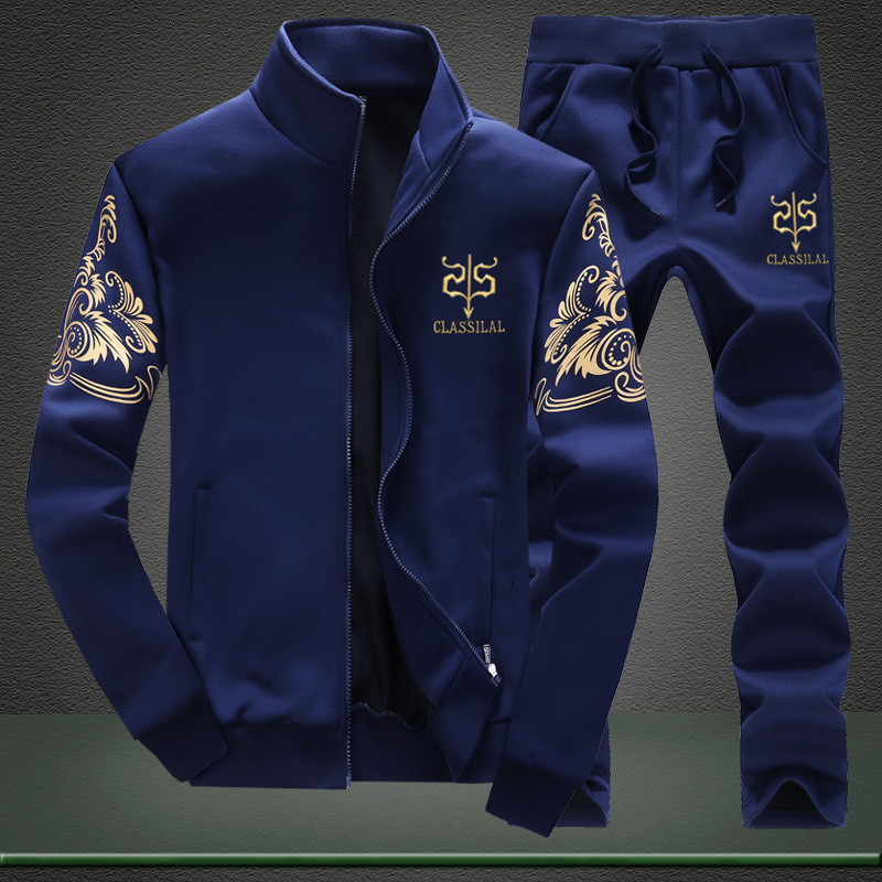 Men's Sports Suit Running Set Men Jogging Tracksuit New Set Casual Mens 2 Piece Sets Gyms Fitness Suit Male Jacket + Pants