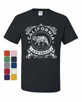 California Republic Flag T Shirt CA Cali State Grizzly Bear Star Tee Shirt