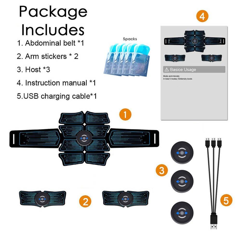 Ultimate ABS Slim Stimulator Abdominal Muscle Toning Training Belt USB Charge UK