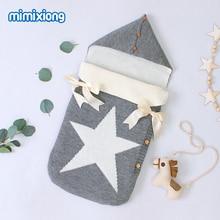 Baby Sleeping Bags Stroller Knitted Envelopes for Newborns Infant Swaddle Wrap Sleep Sacks Five Star Autumn Grey Winter Blankets