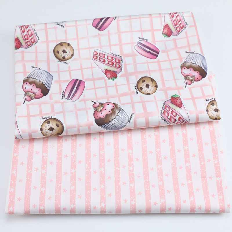 Cake Gedrukt Kids Twill Katoen Stof, Patchwork Doek, DIY Naaien Quilten Fat Quarters Materiaal Voor Baby & Kind