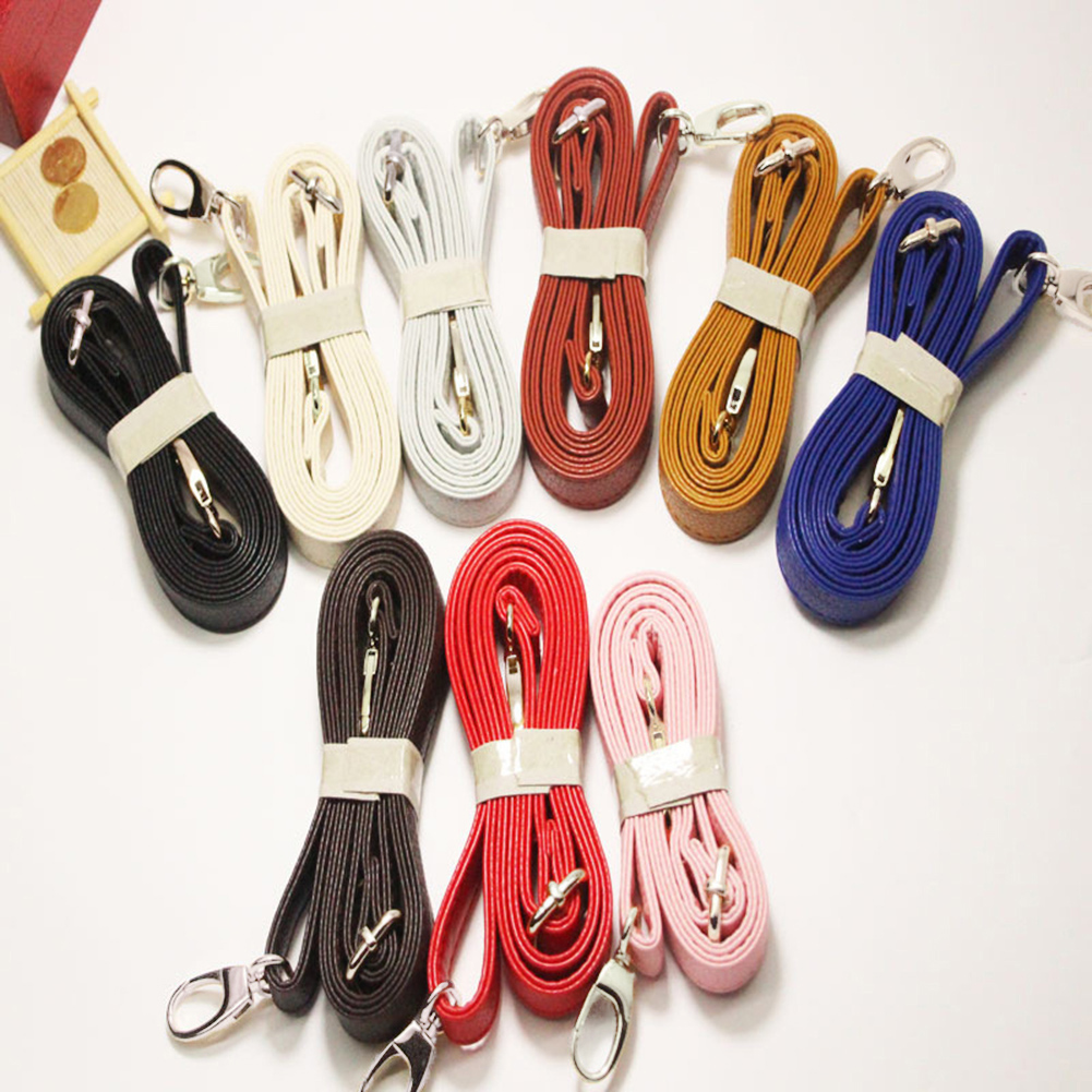 140cm PU Leather Shoulder Bag Strap New Solid Color Bag Strap With Silver Hardware DIY Purse Handle Women Handbags Belts Strap