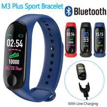 Banda inteligente m3 mais pulseiras das mulheres dos homens à prova dwaterproof água esportes pulseira telefone bluetooth monitor de freqüência cardíaca pulseira de fitness