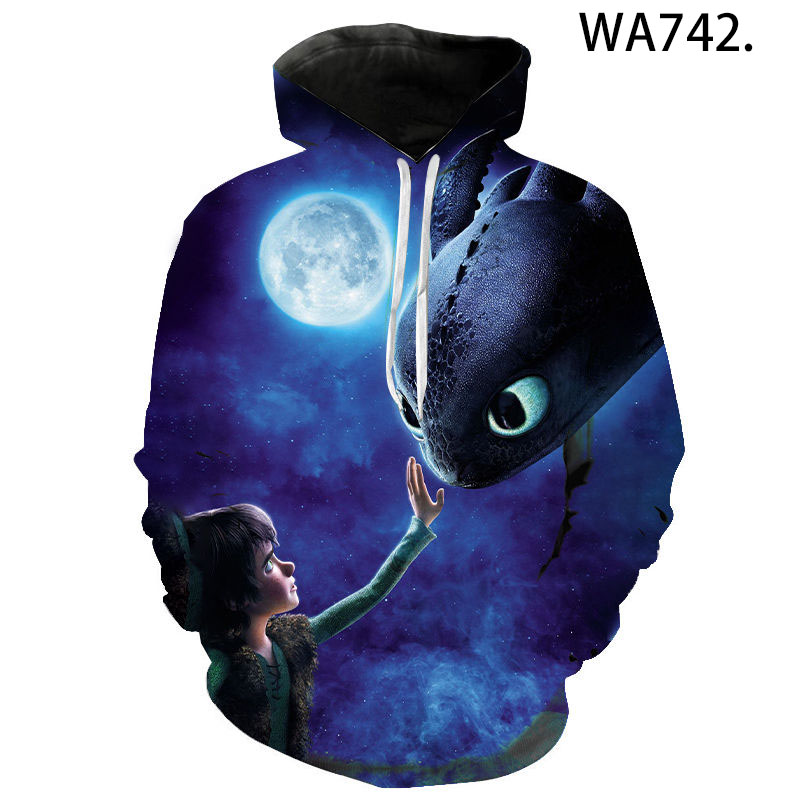 New Fashion Hoodies How to Train Your Dragon 3 The Hidden World Men Women Children 3D printed Casual Sweatshirts Pullover Tops