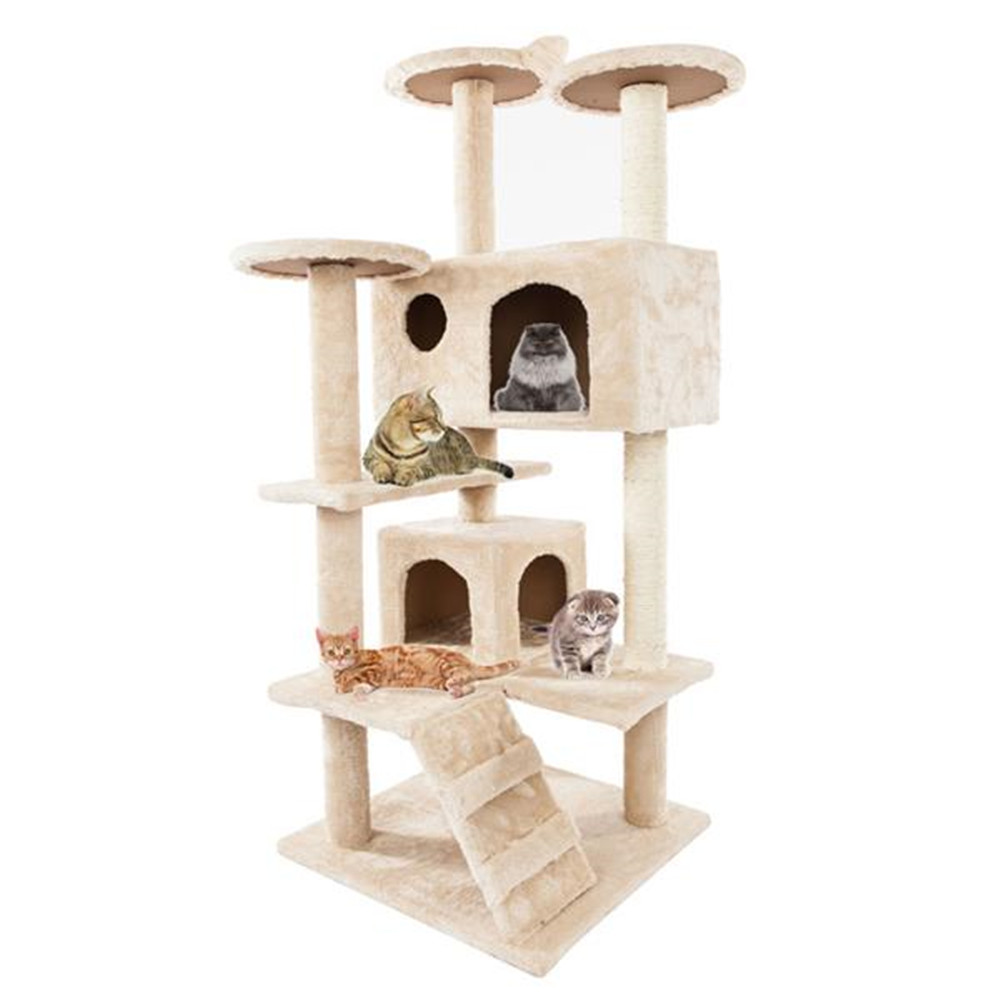 <font><b>Pet</b></font> <font><b>Cat</b></font> <font><b>Tree</b></font> <font><b>Tower</b></font> Condo House Scratcher Post Toy for <font><b>Cat</b></font> Kitten <font><b>Cat</b></font> Jumping Toy with Ladder Playing <font><b>Tree</b></font> Kittens <font><b>Pet</b></font> image