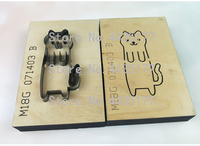 Customized Tool MouldJapan Steel Blade 2pcs/set Wooden Die cat Leather Craft Punch Hand Tool Cut Knife Mould Sewing Accessories