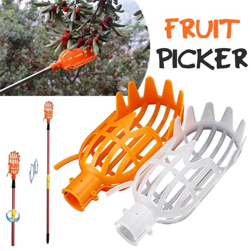 Plastic Fruit Picker Without Handle Fruit Catcher Fruits Collection Gardening Farm Garden Picking Device Garden Greenhouses Tool