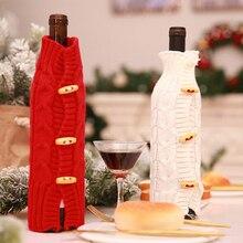 Новые Винные сумки красные чехлы для винных бутылок подарочный упаковочный мешочек для Свадьбы вечерние украшения Винные сумки рождественские украшения стол Рождество