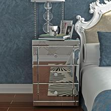58x40x40 см Высокое качество зеркальный прикроватный шкаф/прикроватный столик/комод 3 ящика мебель для спальни