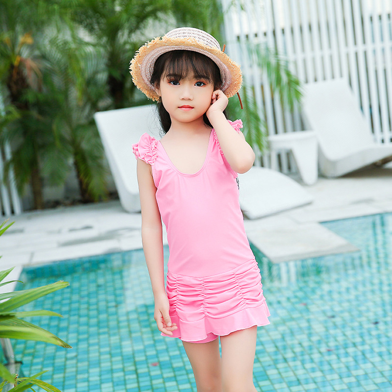 Girl'S Swimsuit Princess Dress-South Korea Cute Students Sun-resistant One-piece KID'S Swimwear GIRL'S Big Boy