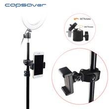 Capsaver evrensel 1/4 vidalı bağlantı mobil telefon tutucu telefonu makası Mini Cradle kafa için özel halka ışık