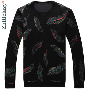 Image 2 - 2020 Designer Pullover Feather Men Sweater Mensthin Jersey Knitted Sweaters Mens Wear Slim Fit Knitwear Fashion Clothing 41241