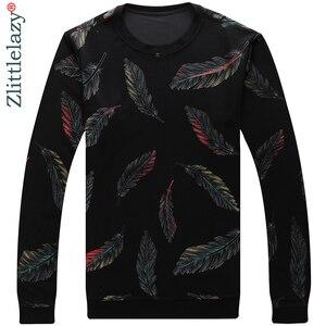 Image 2 - Jersey de diseñador con plumas para hombre, Jersey delgado de punto, ropa de punto ajustada, ropa de punto 2020