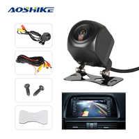 Aoshike hd 170 graus câmera de visão traseira do carro sony olho de peixe lente luz das estrelas visão noturna câmera reversa do carro veículo estacionamento câmera