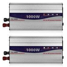 1 セットled表示 1000 ワット純粋な正弦波力インバーター 12v/24vに 220vコンバータトランス電源インバータ