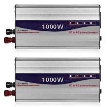 1Set LED Display 1000W Pure Sine Wave Power Inverter 12V/ 24V To 220V Converter Transformer Power Supply Inverter