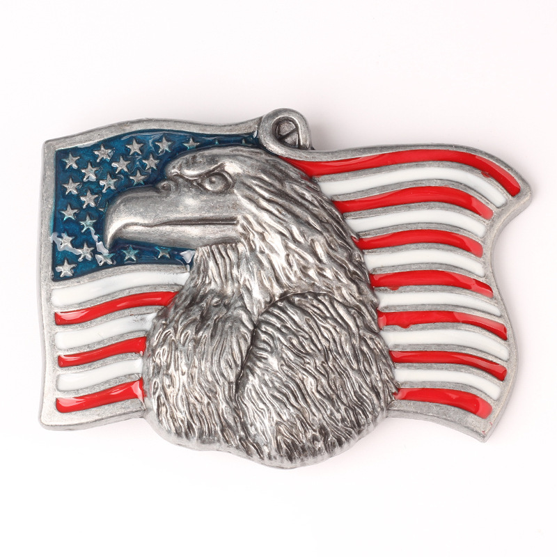American Flag Pattern Vulture Eagle Belt Buckle Handmade Homemade Belt Accessories Waistband DIY Components