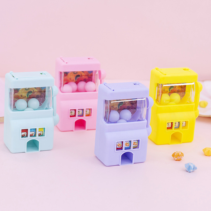 1PC Children's Game Machine Kawaii Cute Mini Play Toys Dolls Accessories Plastic Fruits Lottery Machine Birthday Gifts Randomly