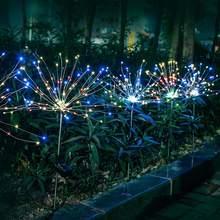 Led solar firework luzes ao ar livre à prova dwaterproof água guirlanda de fadas 150 led luz corda jardim gramado rua decoração casamento para jardim