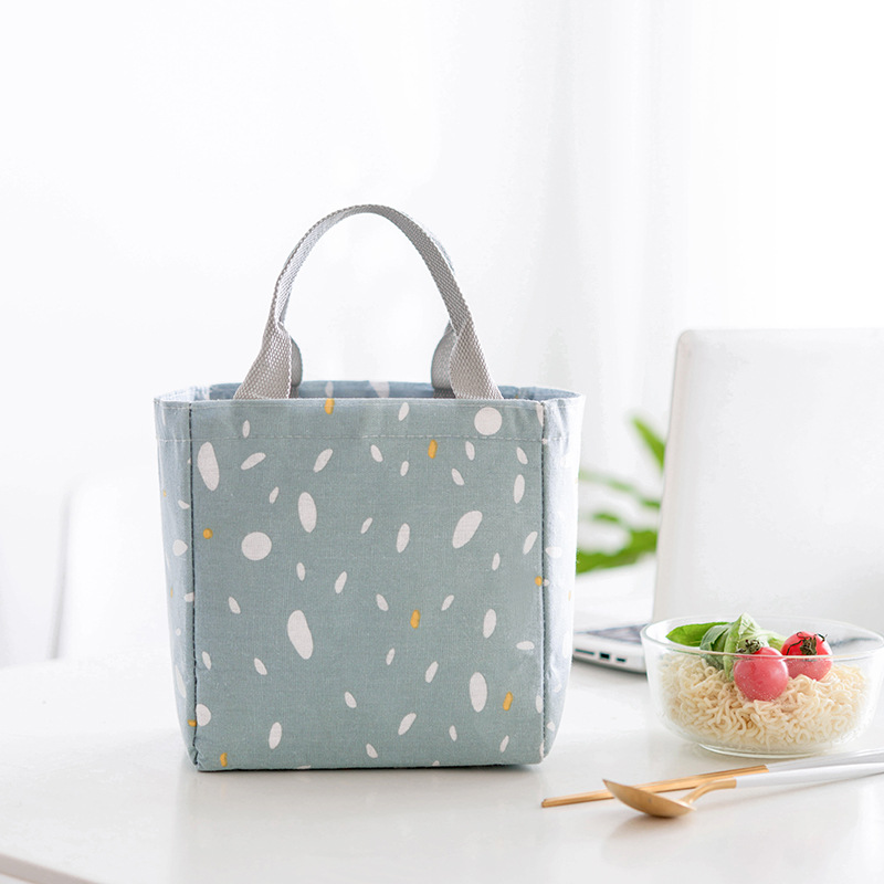 Container Bag Insulated Lunch Aluminum Foil Thick Container Bag Strap Fan Dai Women's Carry Bag Thermal Bag Bento Handbag