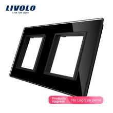 Livolo Luxury Grey Pearl Crystal Glass, 150mm*80mm, EU standard, Double Glass Panel For Wall Switch&Socket,VL-C7-SR/SR-15
