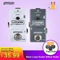 Ammoon AP-09 гитарная педаль Nano Loop педаль эффектов для электрогитары Looper с истинным байпасом неограниченное количество наложений 10-минутная зап...
