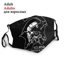 Engrenagem de metal não-descartável boca máscara facial mgs morte estrangulamento anti haze dustproof máscara proteção capa respirador muffle