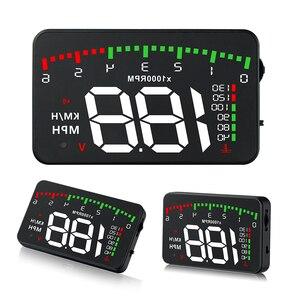 """Image 2 - OBDHUD A300 OBDII ראש למעלה תצוגה 9 V 16 V קמ""""ש KM/H דלק מהירות אזהרת מערכת שמשה קדמית מקרן רכב Accesorie משלוח חינם"""