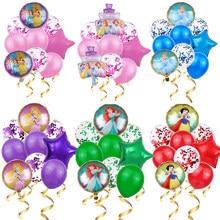 4 princesa elsa disney princesa balões de hélio confetes látex bolas chuveiro do bebê festa de aniversário decorações crianças brinquedos presente da menina