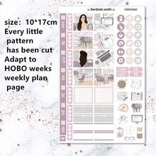 Pegatinas decorativas de papelería Hobo para día de trabajo, planificador diario, adaptada para planificación semanal, 2 uds.