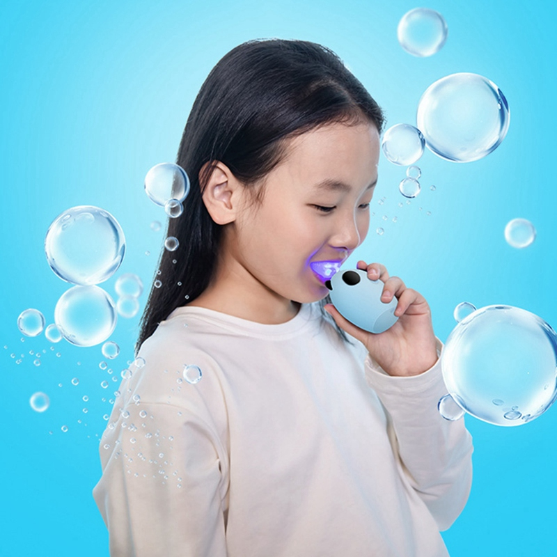 2 Pcs Children Sonic ligent Automatic Electric Toothbrush U Type Toothbrush for 8-15 Year Old Kid-:Blue & Gray