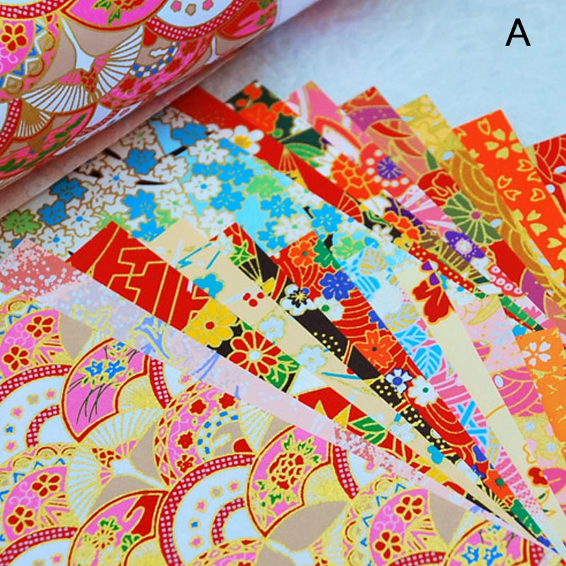 80pcs Christmas Ornament Santa Candle Double Sided Chiyogami ORIGAMI PAPER 15cm