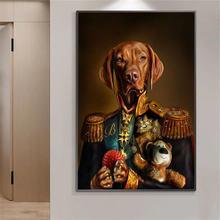 Собака в военной форме холст настенные картины художественные
