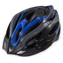 Generic Cycling Bicycle Adult Bike Safe Helmet Carbon Hat With Visor 19 Holes Blue цена 2017