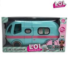 ЛОЛ куклы удивят оригинальные Glamper 2-в-1 игрушки автобус автомобиль съемный Лол Дом Куклы аниме цифры модель девушки день рождения подарки