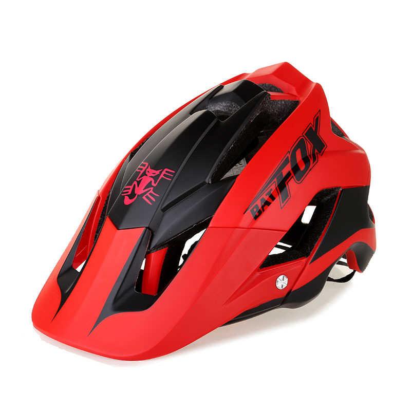 Batfox Mũ Bảo Hiểm Xe Đạp Tổng Thể Đúc Đường Núi Mũ Bảo Hiểm Siêu Nhẹ Xe Đạp Bảo Hiểm Đi Xe Đạp Bát Cáo DH AM Casco Ciclismo Bicicle