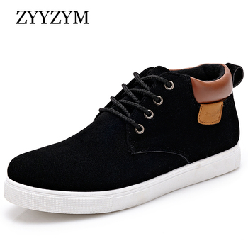 ZYYZYM Mens Casual Shoes Spring Autumn Breathable High Style Men Flat Fashion Sneakers Simple Footwear