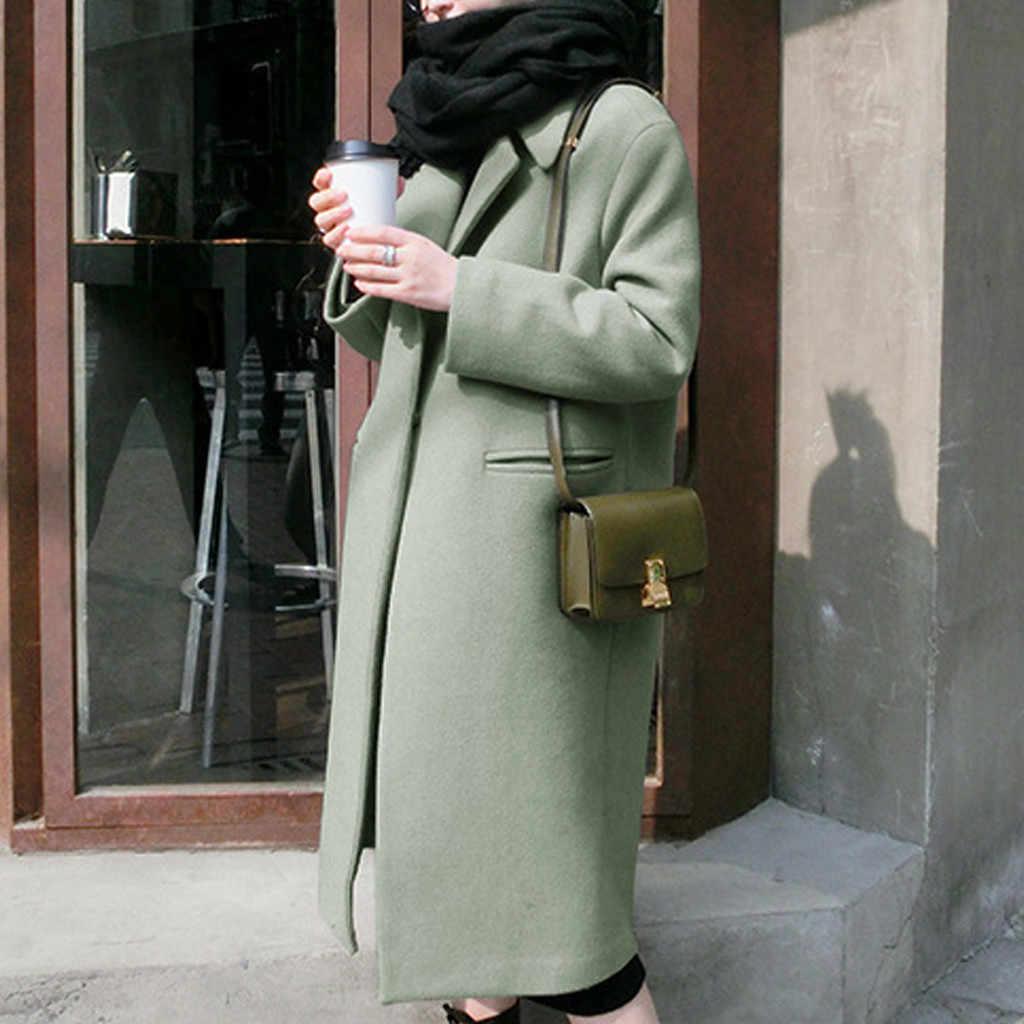 Kancoold Mantel Wanita Musim Dingin Hangat Parit Panjang Lebih Tahan Dr Kerah Wol Mantel Plus Fashion Baru Mantel dan Jaket Wanita 2019Sep30