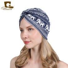 Vintage Turban Hat Stretch Snood Cap Chemo Hawaiian Tropical Flower Print Skull Hair Wrap Soft Packable Doo Rag F