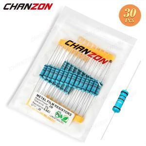 30 шт 2W 1% металлического пленочного набор резисторов 1ohm - 1M Ом 2 Вт Высокая точность MF фиксированное сопротивление 1-10K 100K 4R7 2K2 2,2 K 4,7 K 1 кОм