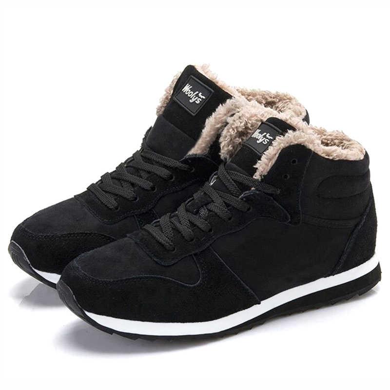 Ankle Boots Winter Shoes Men Snow Boots Plush Warm Men Boots Male Shoes Adult Mens Winter Footwear Plus Size 47 Boots Men 39 S