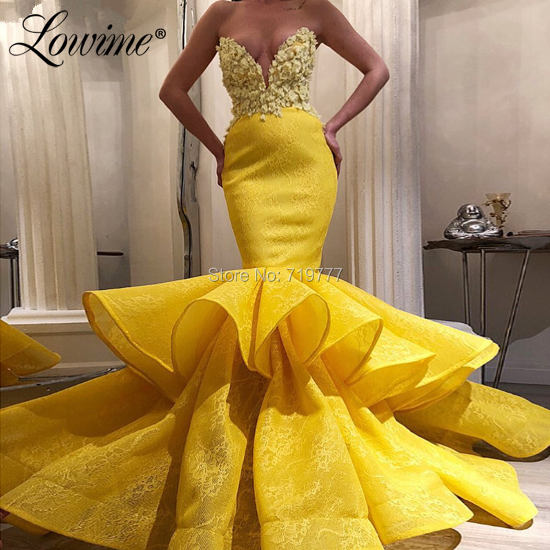 Long Mermaid Lace Formal Evening Dress Celebrity Pageant Party Prom Wedding Gown