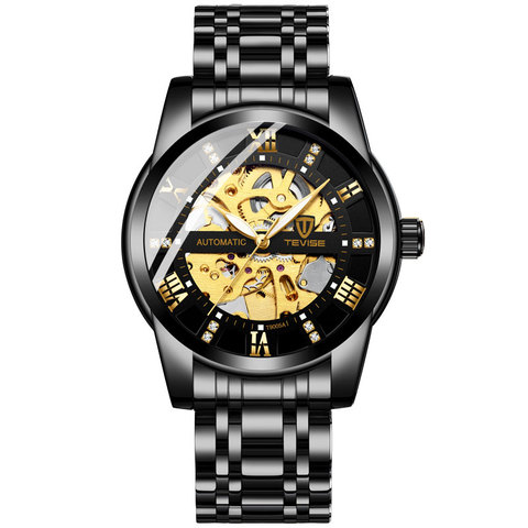 Top Brand Luxury TEVISE Mens Self Wind Wristwatch Man Mechanical Watches Automatic Watch Fashion Male Clock Relogio Masculino Lahore