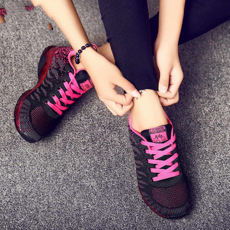 חדש נשים ריצה נעלי גובה הגדלת ריצה ספורט קיץ פלטפורמת טרז סניקרס אישה לנשימה סלי Homme YC-36