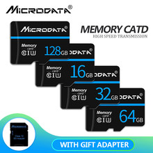 Cartão de memória de alta velocidade da classe 10 cartões de memória 64gb 128gb micro sd cartão tf cartão de memória 32gb 16gb 8gb microsd com adaptador do sd do presente