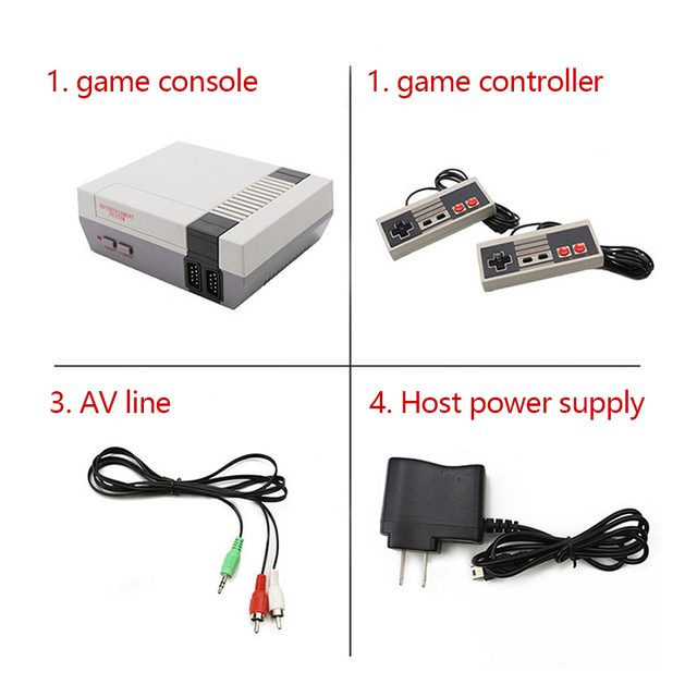 ONETOMAX Retro Handheld 4 Keys Games Console Built-in 620 Classic Games Controller for NES TV Handheld Mini Game Console Joypad 3