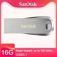 SanDisk CZ74 3,1 USB Flash Drive 32 GB Pendrive Flash de 64G 256GB de memoria 128 GB150 MB/S 16 GB Mini disco de U para PC/nota